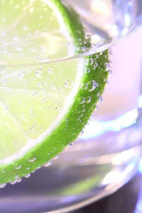 Erfrischung im Glas..