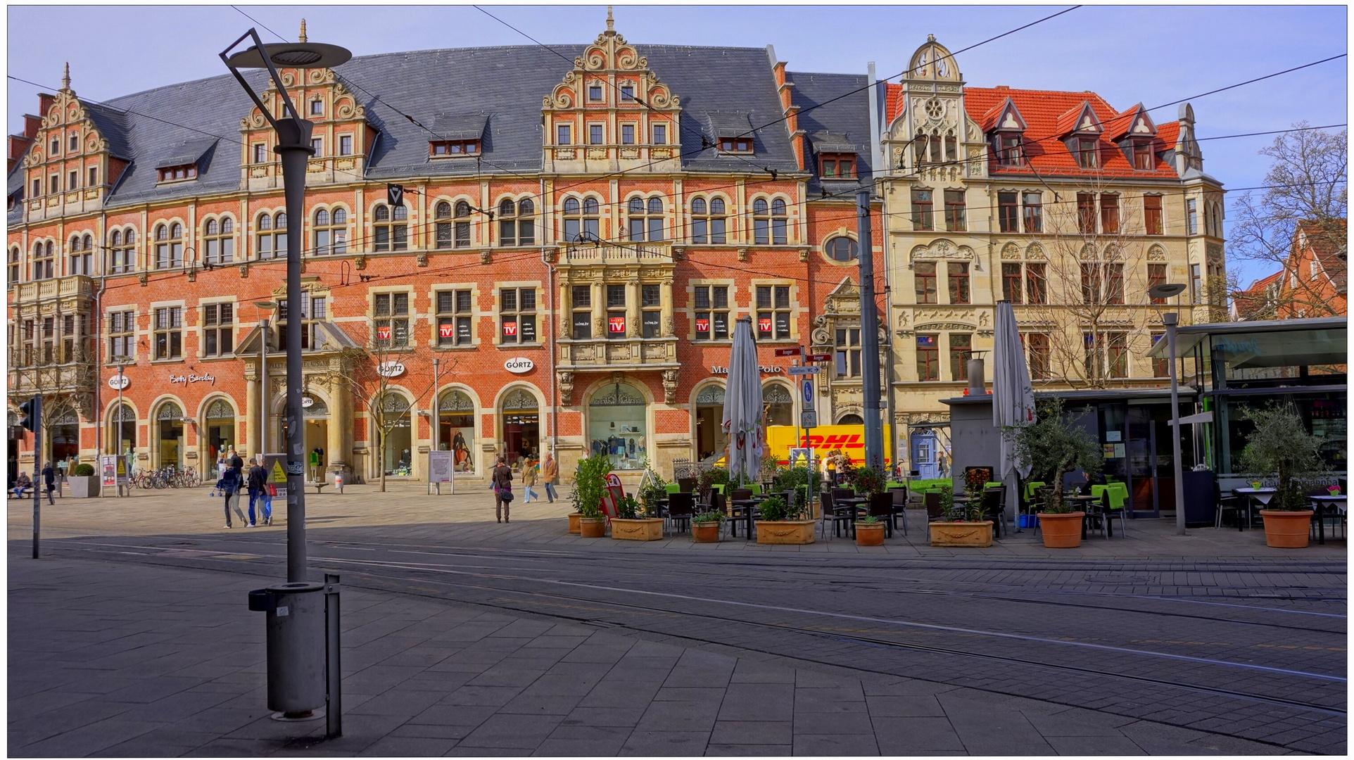 "Erfurt, Am Anger (la plaza ""Am Anger"")"