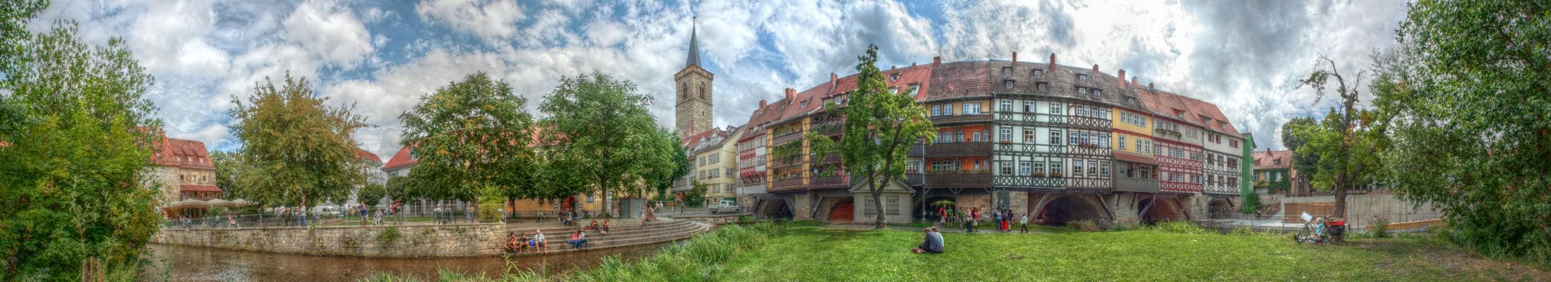 Erfurt Blick auf die Krämerbrücke