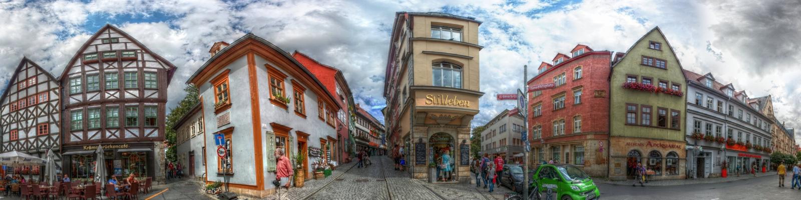 Erfurt Blick in die Krämerbrücke