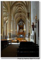 Erfurt, catedral, interior, vista al órgano