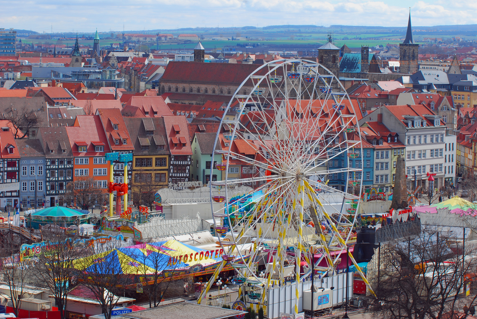 Erfurt mit Rummel