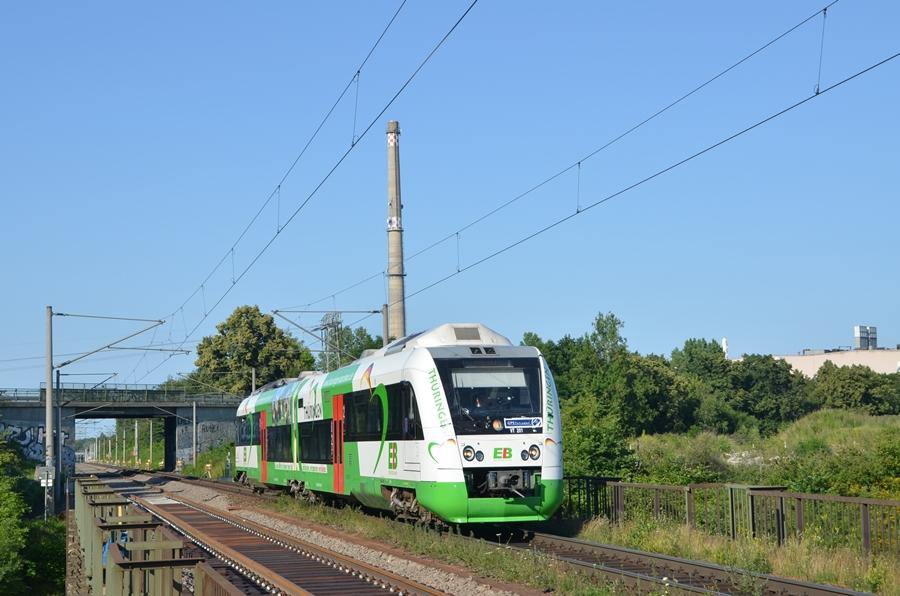 Erfurter Bahn mit ihrem Itino bei der Durchfahrt in Leipzig Rückmarsdorf