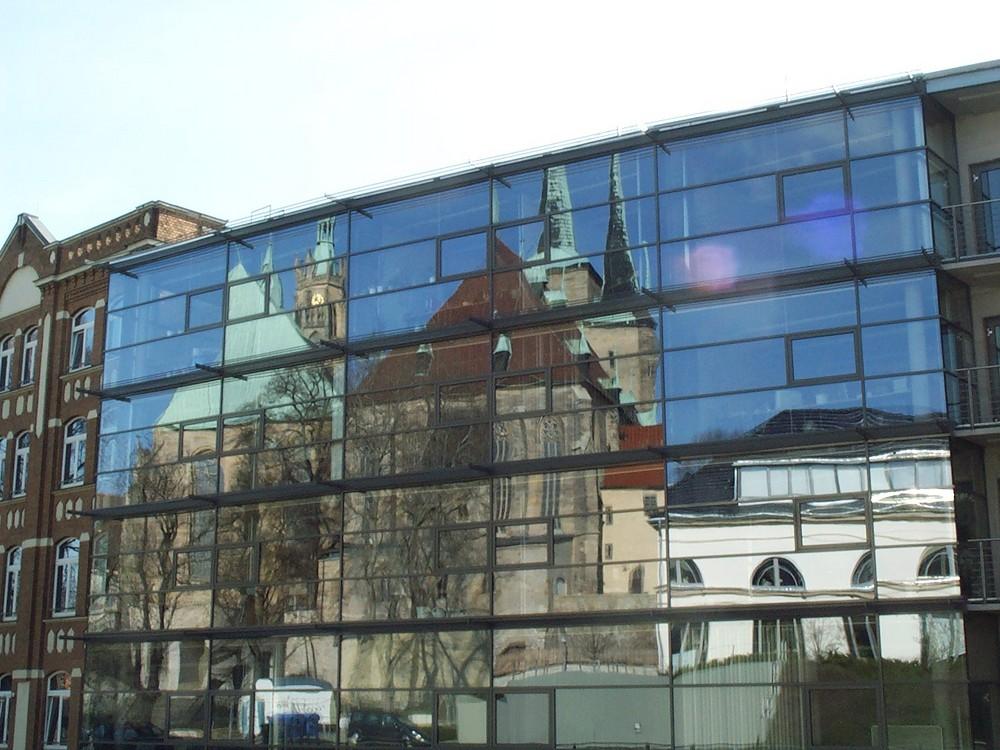 """Erfurter Dom u. Severikirche """"von hinten gespiegelt"""""""