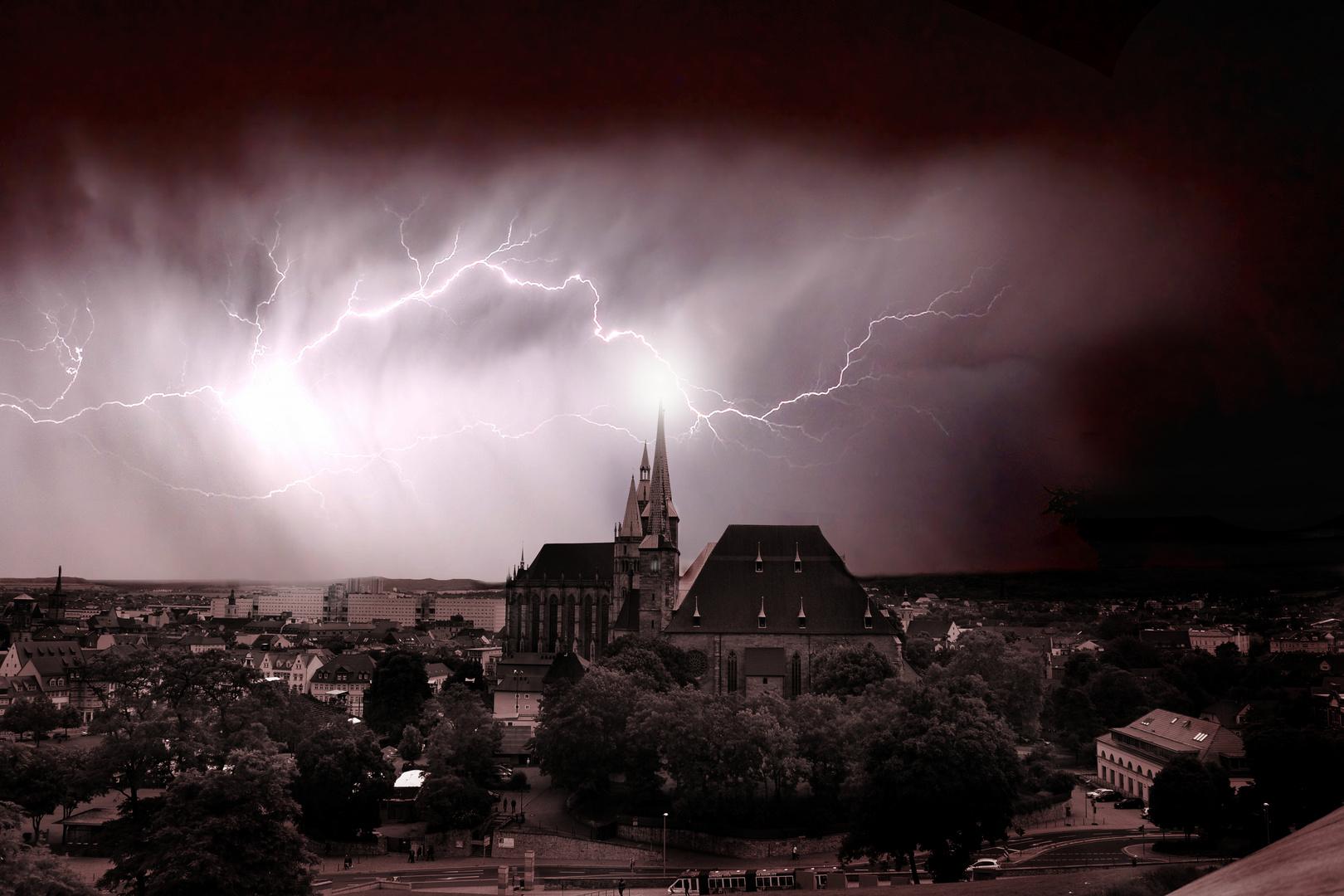 Erfurter Dom vom Petersberg