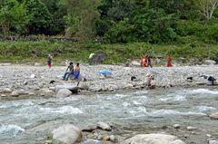 Erholung am Budhi Gandaki