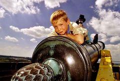 Eric auf der Festung Königstein...