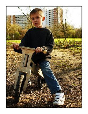 Eric mit Ghettobike