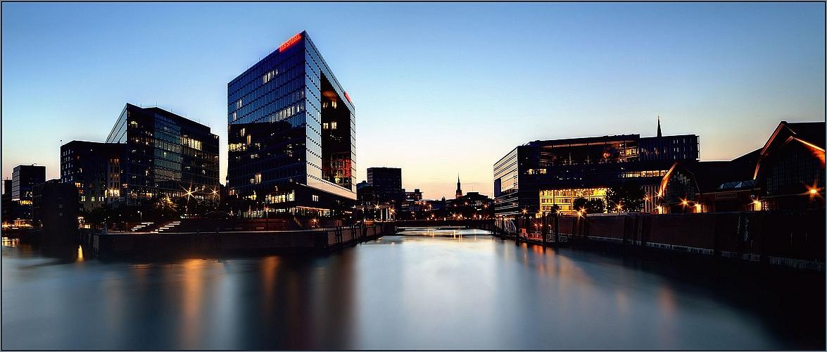 Ericusspitze in Hamburg am Rand der Speicherstadt