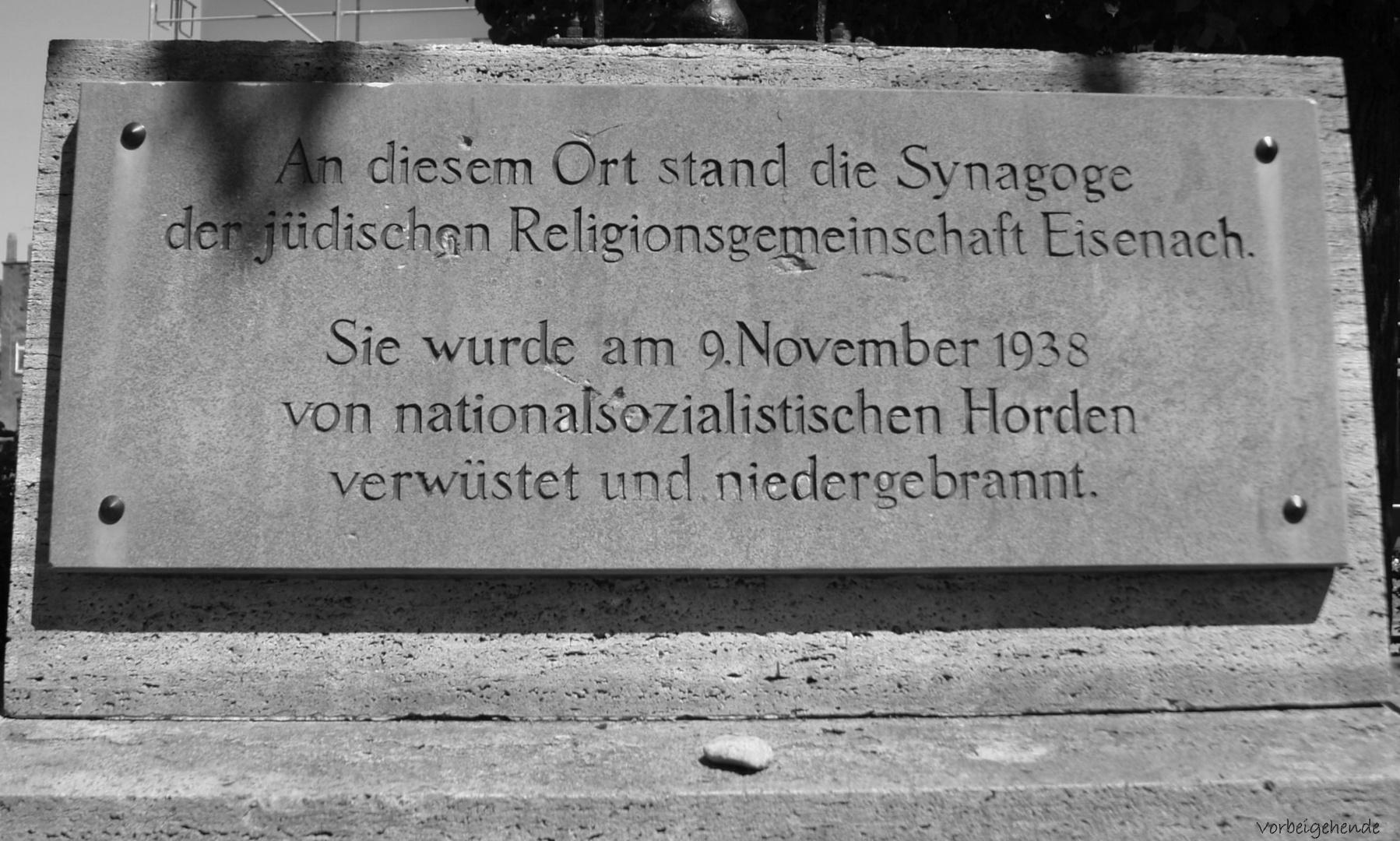 Erinnerung 09.11.1938