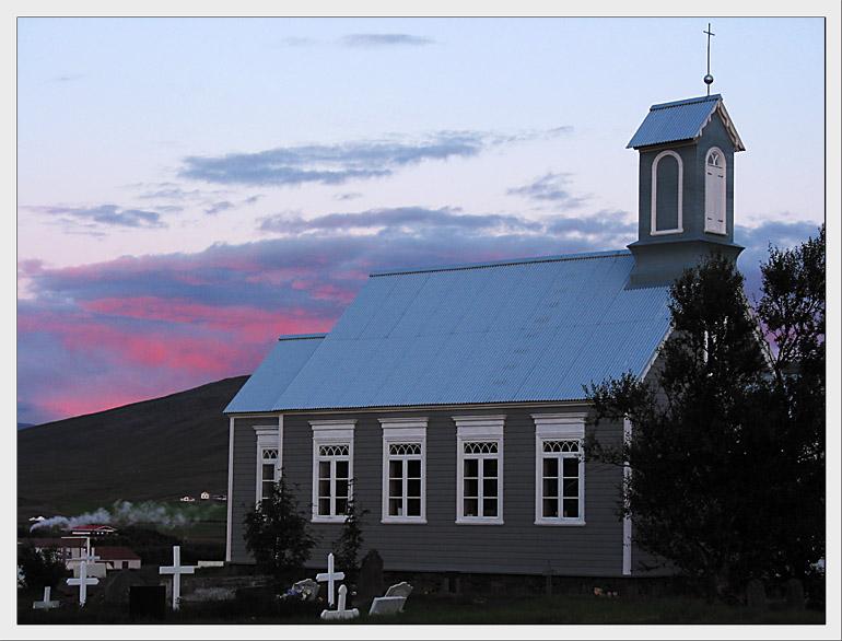 Erinnerung - Die alte Kirche von Reykholt