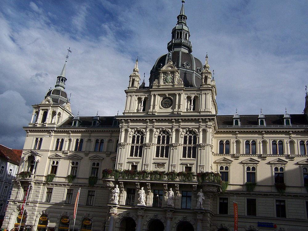 Erinnerungen an einen erlebnisreichen Urlaub- Rathaus von Graz