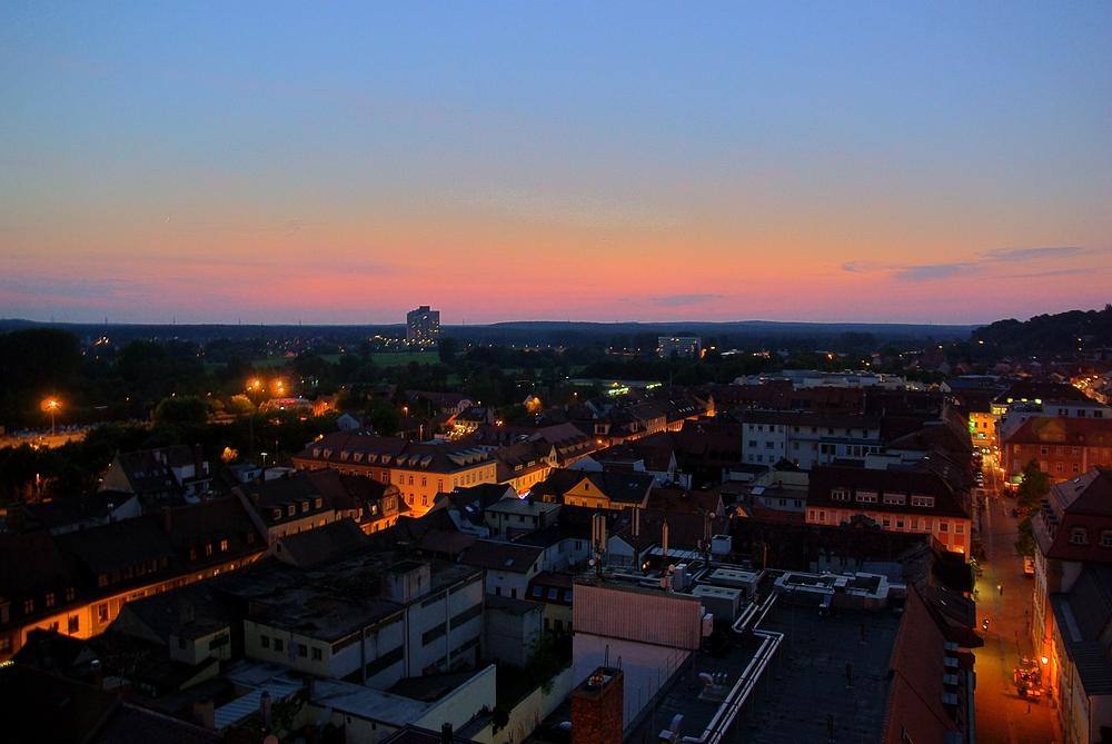 Erlangen bei Nacht