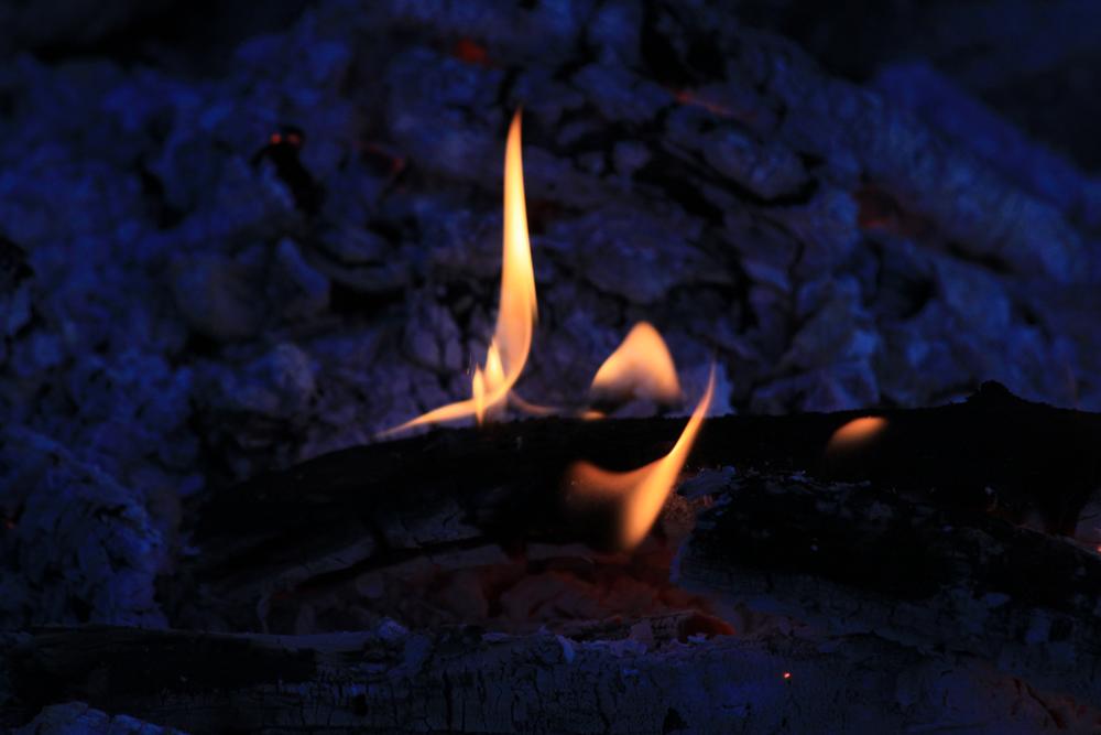 erlöschendes Feuer