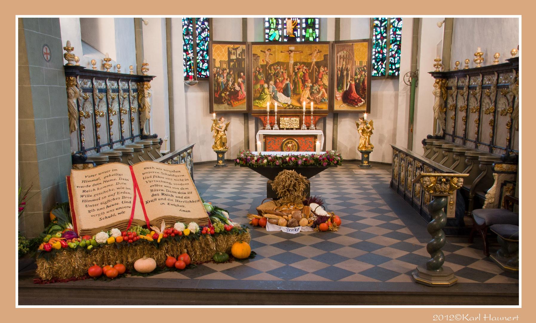 Erntedank in der St Laurentius Kirche Clarholz