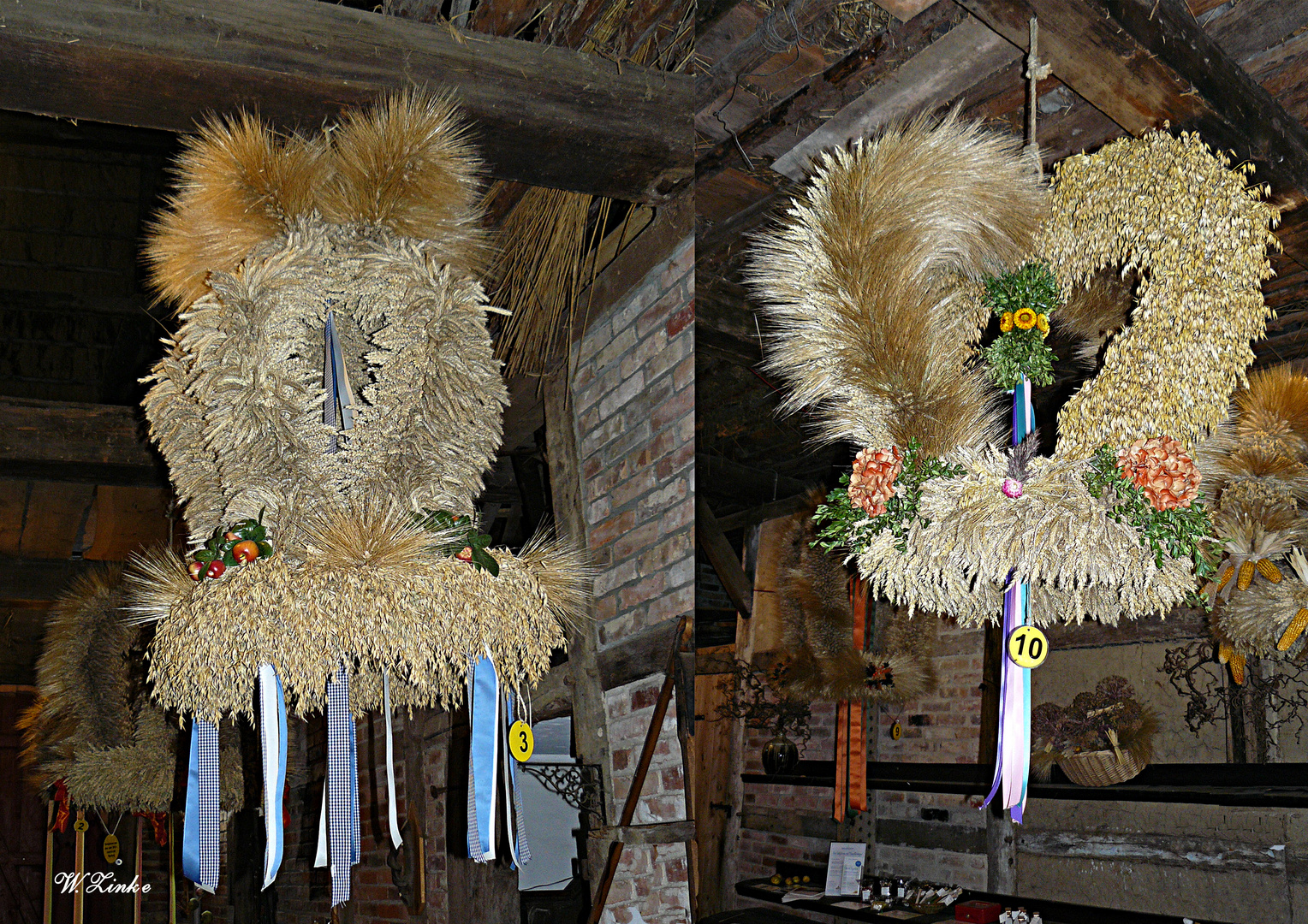 Erntekronen im Freilichtmuseum Klockenhagen Teil2