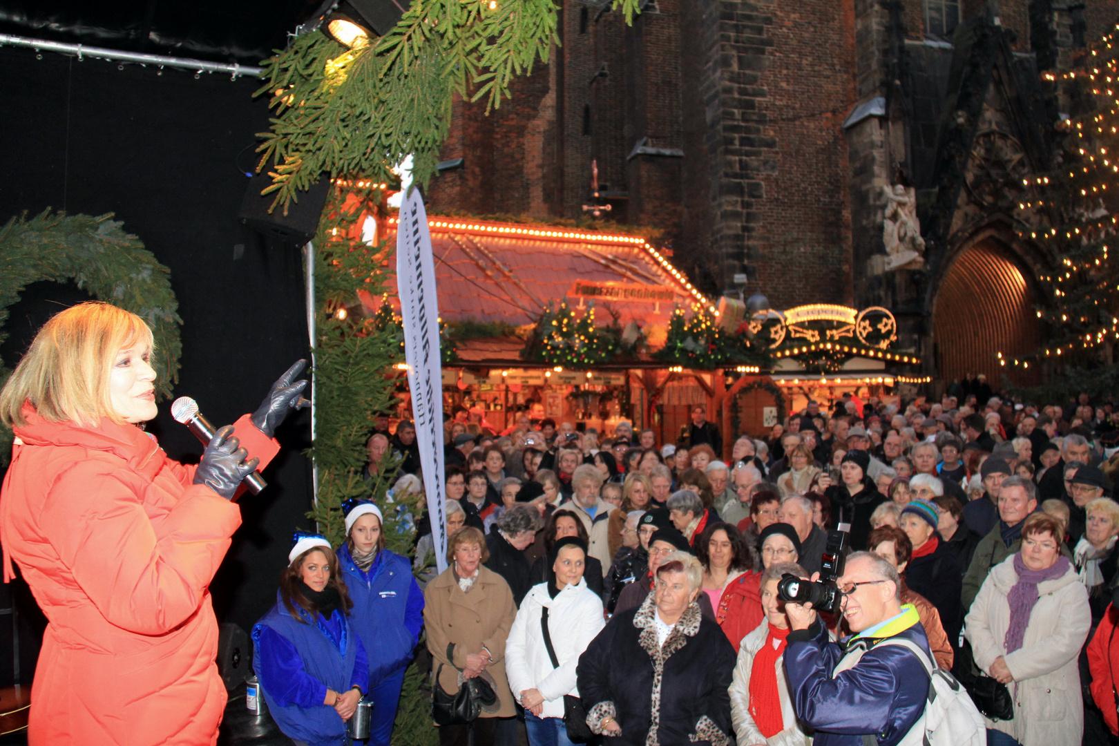 Eröffnung Weihnachtsmarkt mit Marry Roos