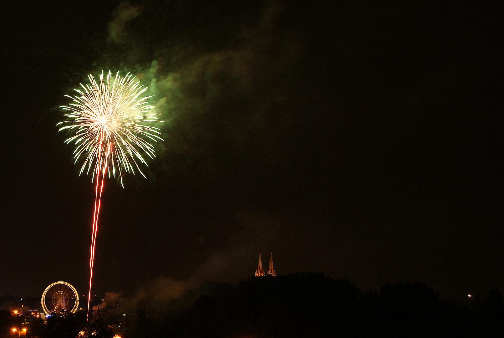 Eröffnungsfeuerwerk Herbstdult Regensburg