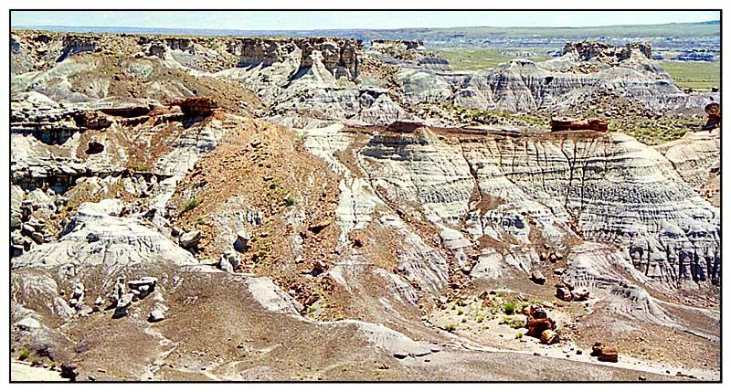 Erosion im Petrified Forest N.P. - Arizona, USA