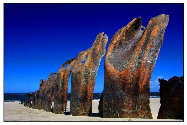 Erosion-Metallbuhnen Sylt