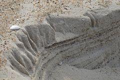 Erosion und Stratigrafie am Nordseestrand - eine kleine Miniaturwelt