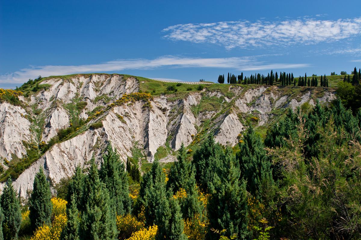 Erosionslandschaft crete senesi
