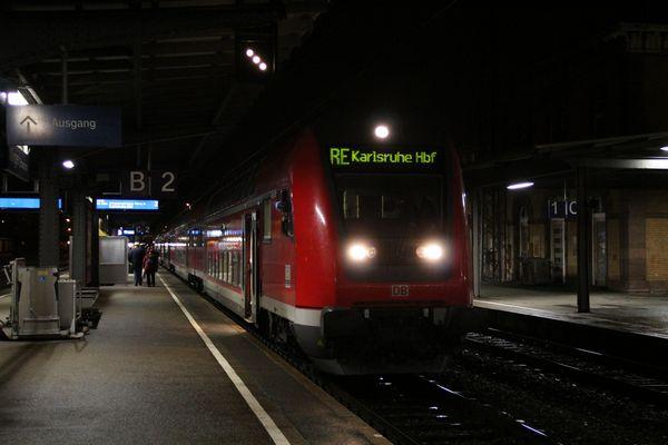 Ersatzzug nach Karlsruhe