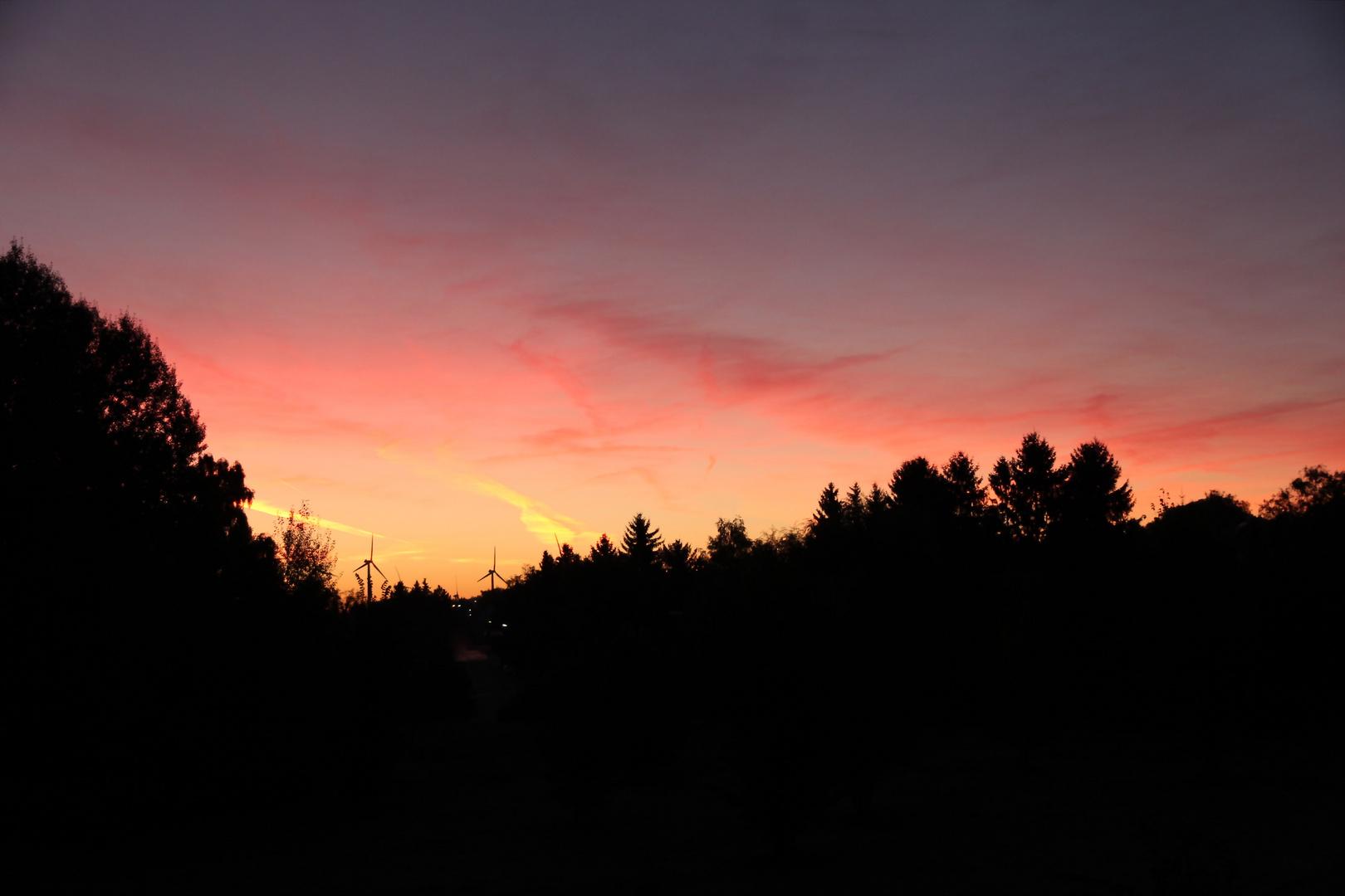 Erstaunlicher Sonnenaufgang