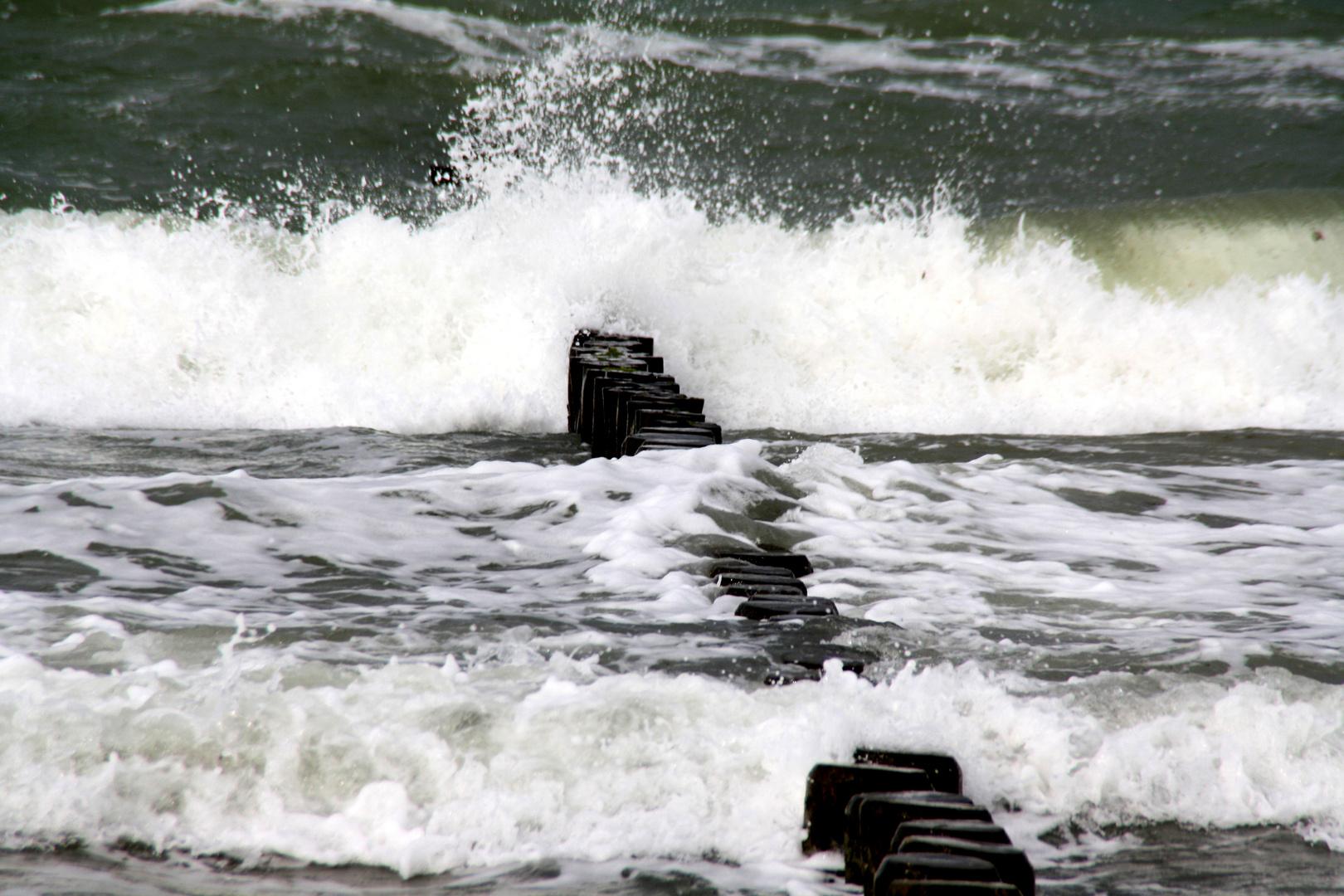 Erste Herbststürme an der Ostsee 2