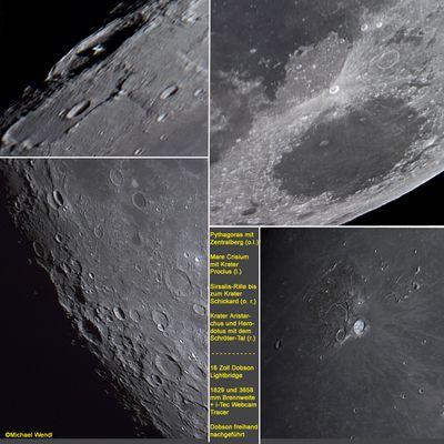 erste Mondimpressionen mit einem 16-Zoll-Dobson - handgeführt