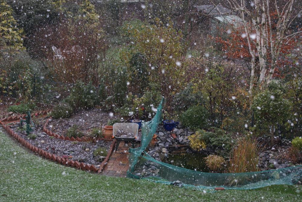 Erste Schnee in Clarholz 2010