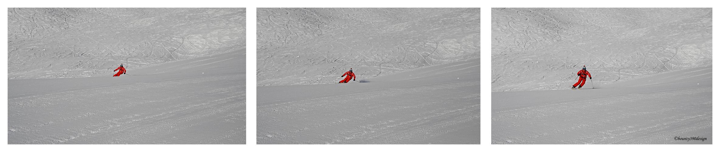 Erste Spuren im Schnee in Kappl