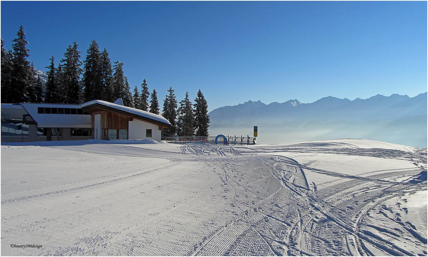 Erste Spuren im Schnee in Kappl II