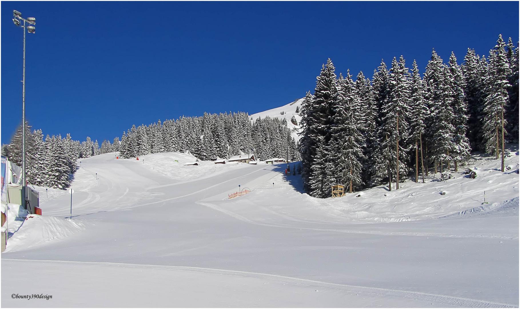Erste Spuren im Schnee in Kappl V