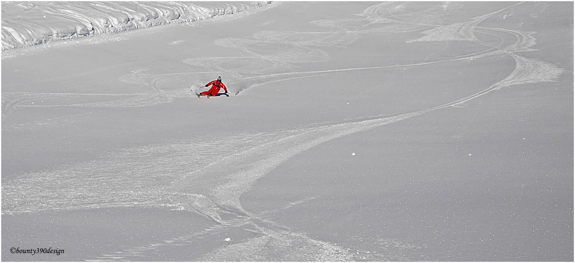 Erste Spuren im Schnee in Kappl VI