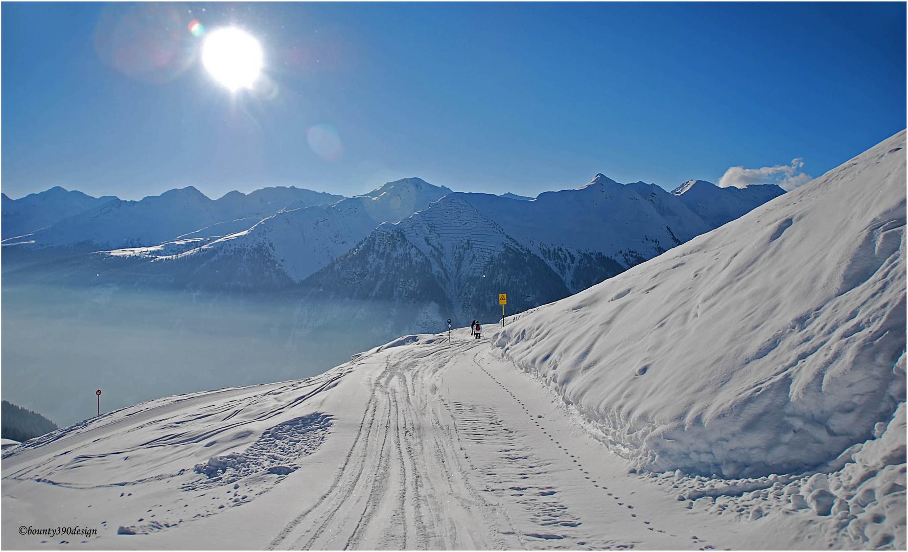 Erste Spuren im Schnee in Kappl VIII
