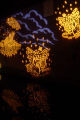 Erste Weihnachts- beleuchtung