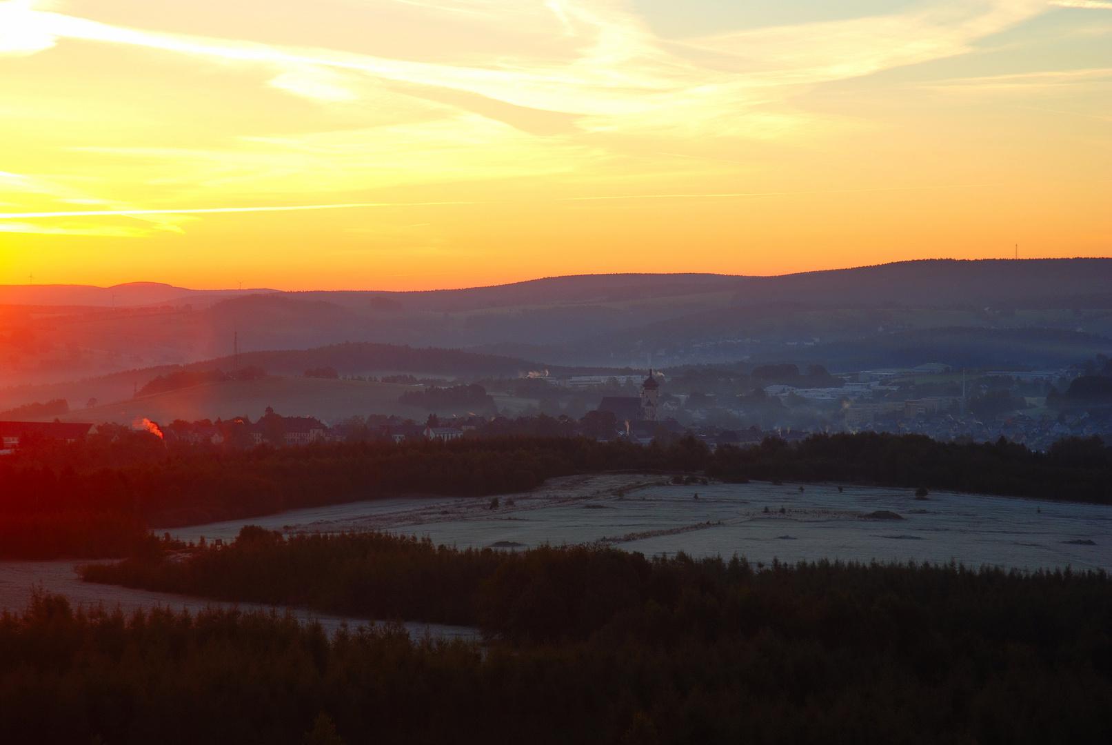 Erster Morgenfrost im Erzgebirge