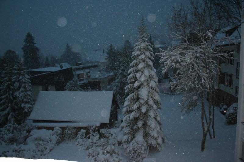 Erster Schnee Schnappschuss aus Freundenstadt