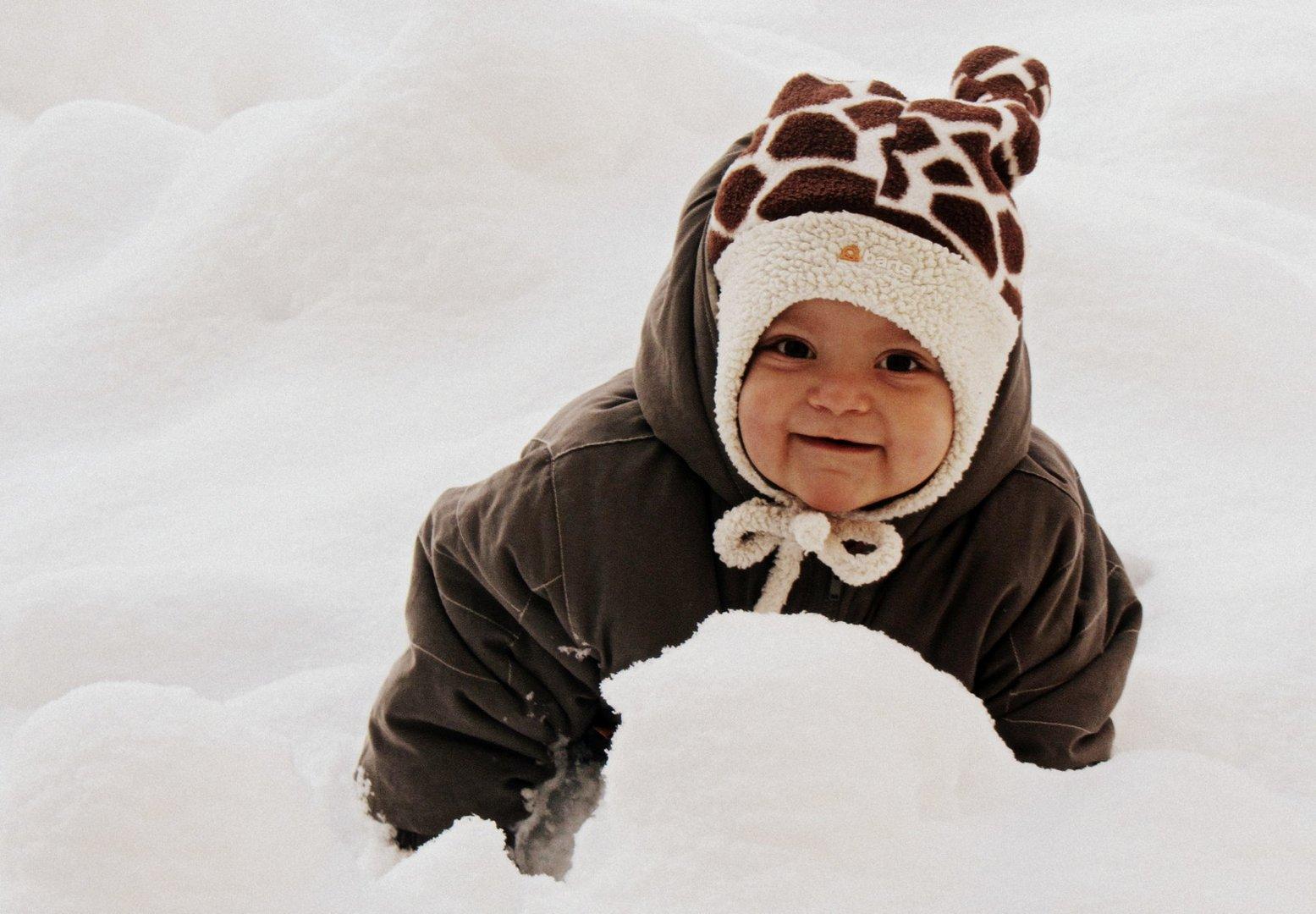 Erster Schneespaß