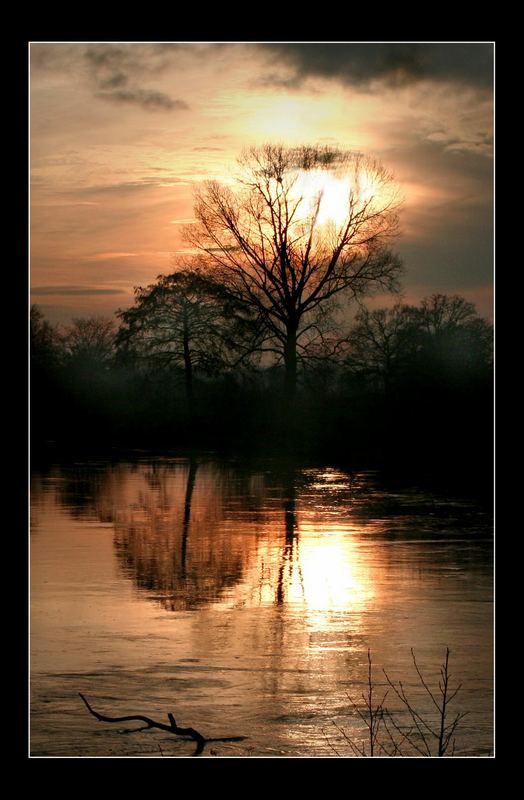 Erster Sonnenuntergang des Jahres