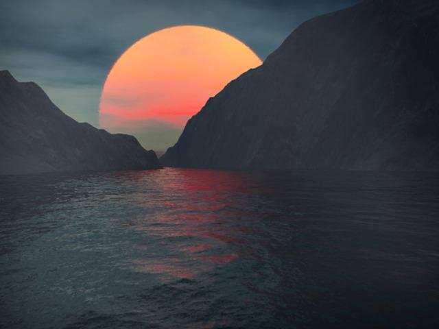 Erster Terragen Versuch (Sonnenuntergang)