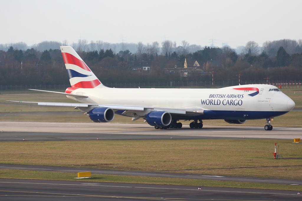 Erstlandung einer 747-8F in Düsseldorf !