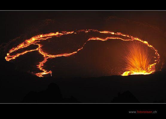Erte Ale aktiver Vulkan