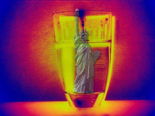 ertrinken im Wasserglas