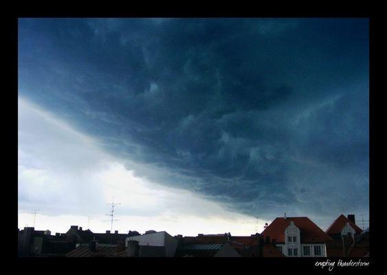 erupting thunderstorm