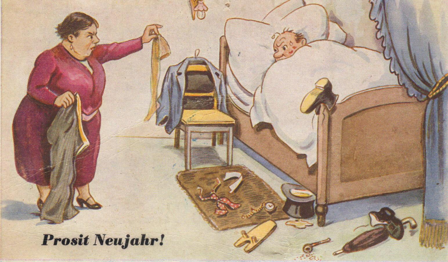 """Erwischt """"Das fängt ja gut an"""" - Karte aus dem Jahr 1959 -"""