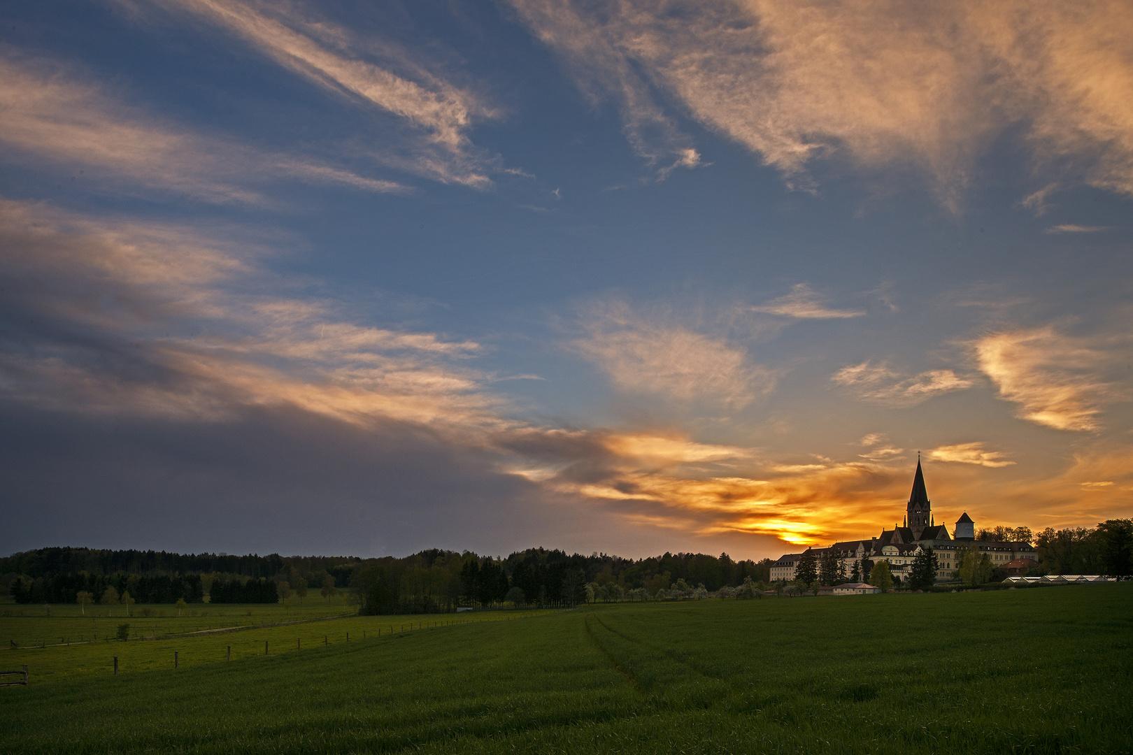 Erzabtei St. Ottilien - Sonnenuntergang
