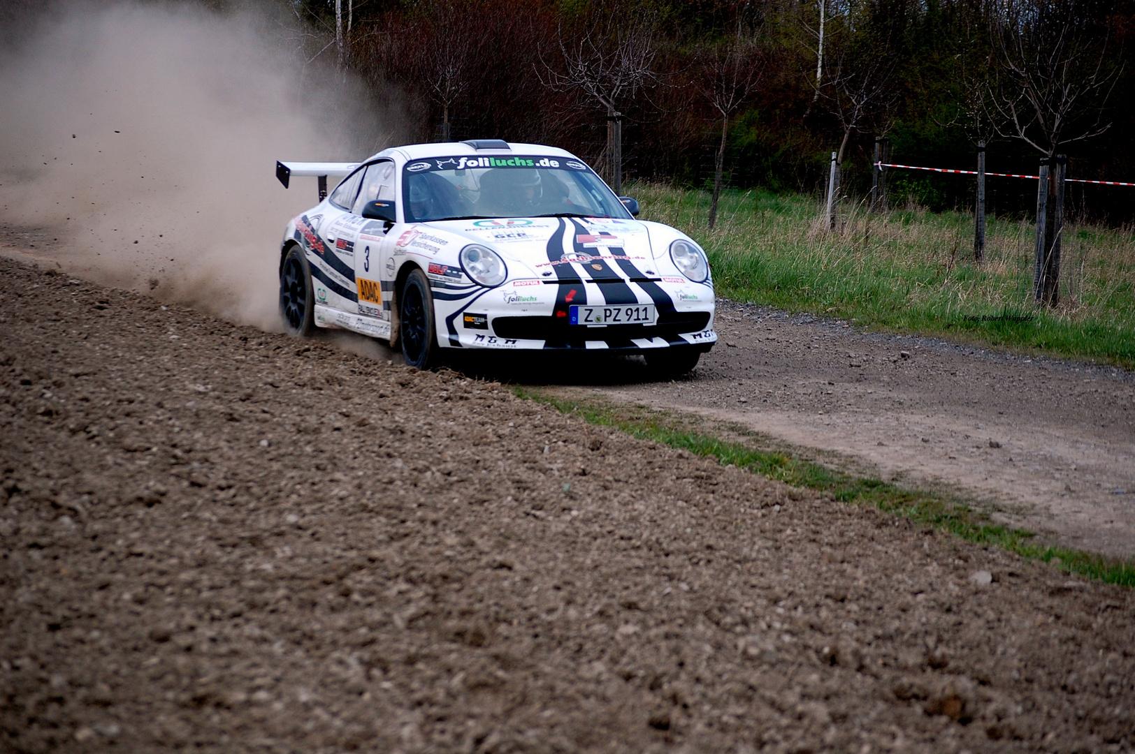 Erzgebirgsrallye Gewinner 2012 Ruben & Petra Zeltner mit seinen Porsche 996 GT 3