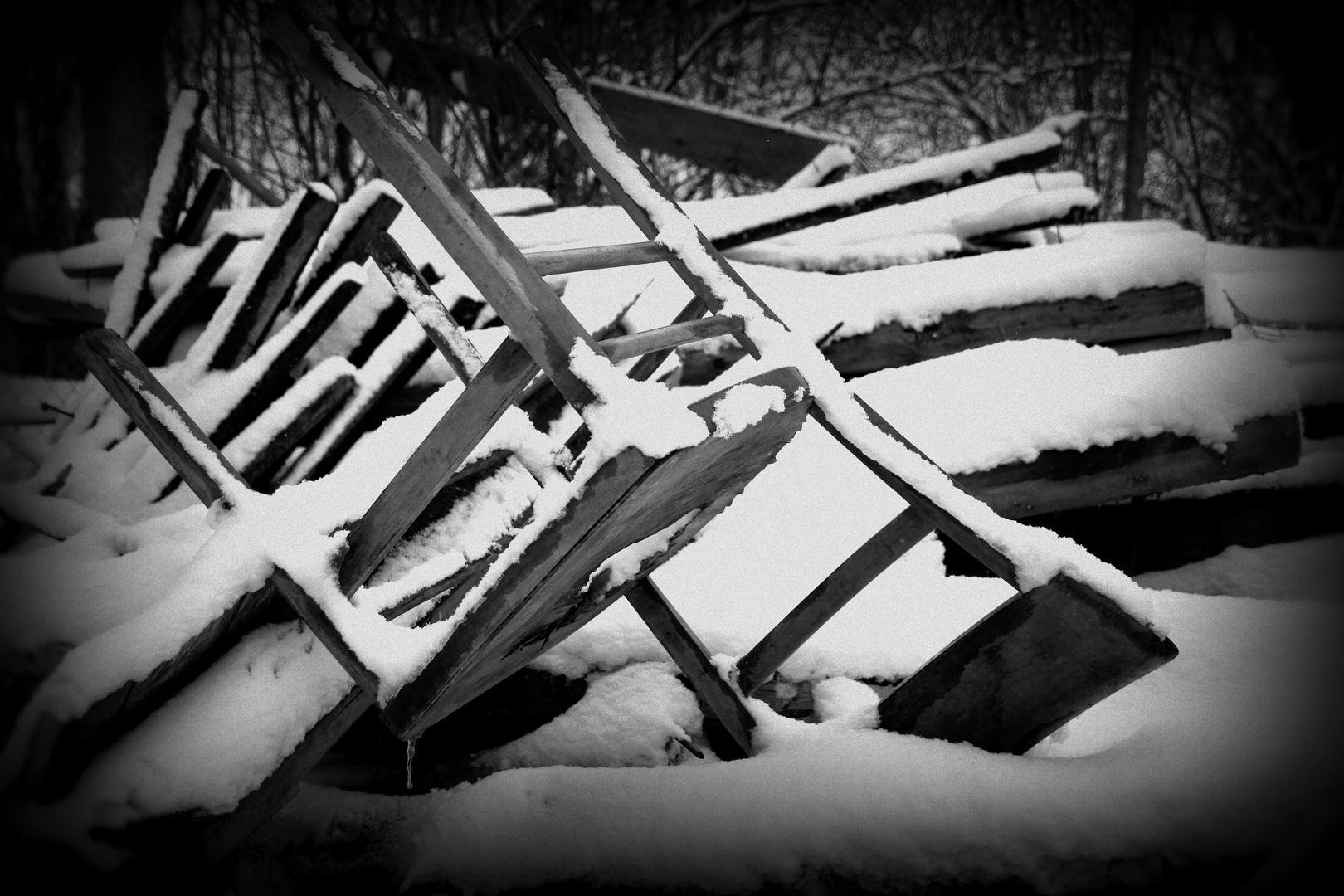 es gibt aber nur noch Schnee-, entschuldigung Stehplätze...